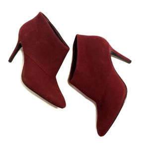 Zara Woman Ankle Booties High Heel Burgundy 7.5